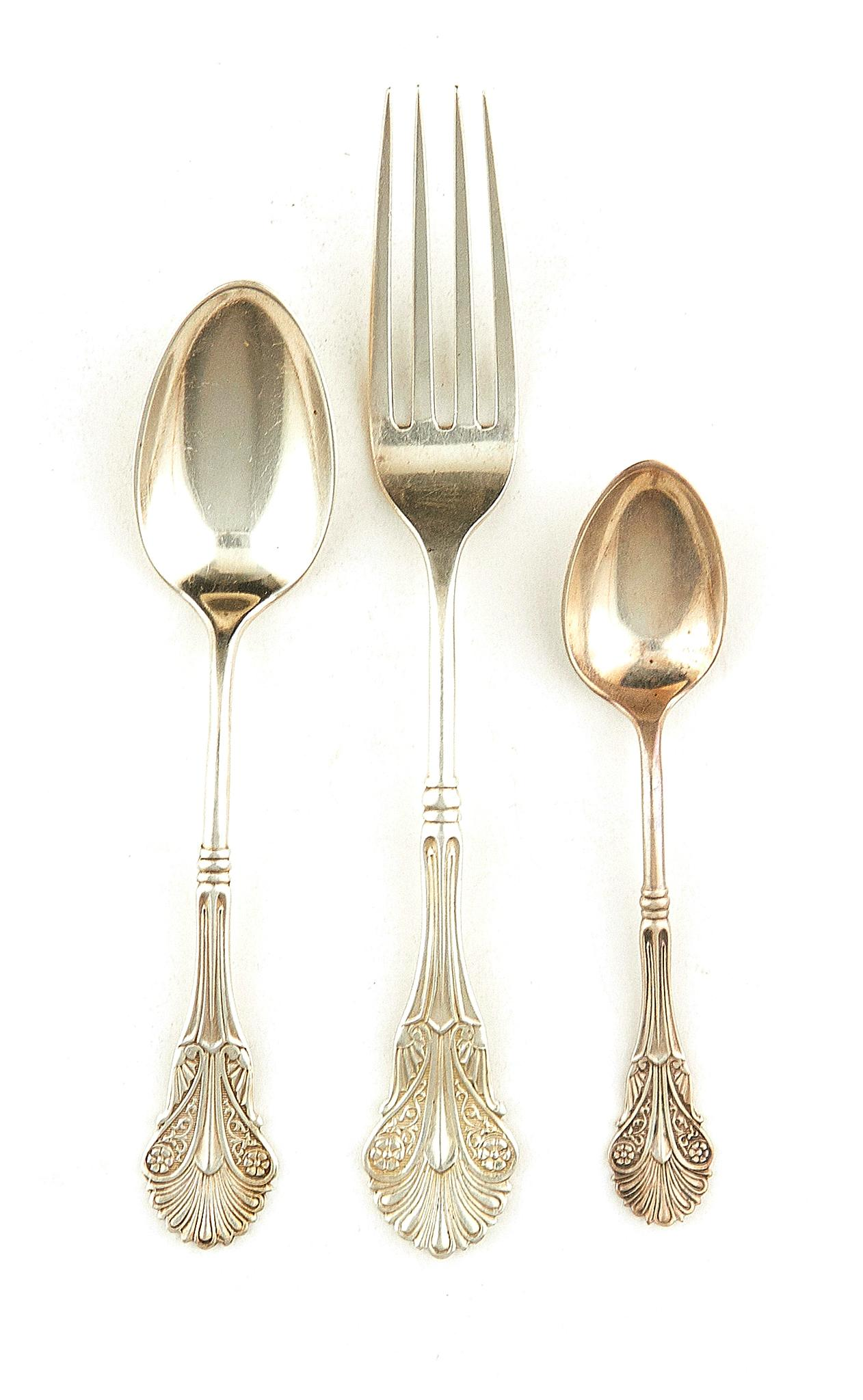 American silver flatware, George W. Shiebler and Tiffany & Co (36pcs)