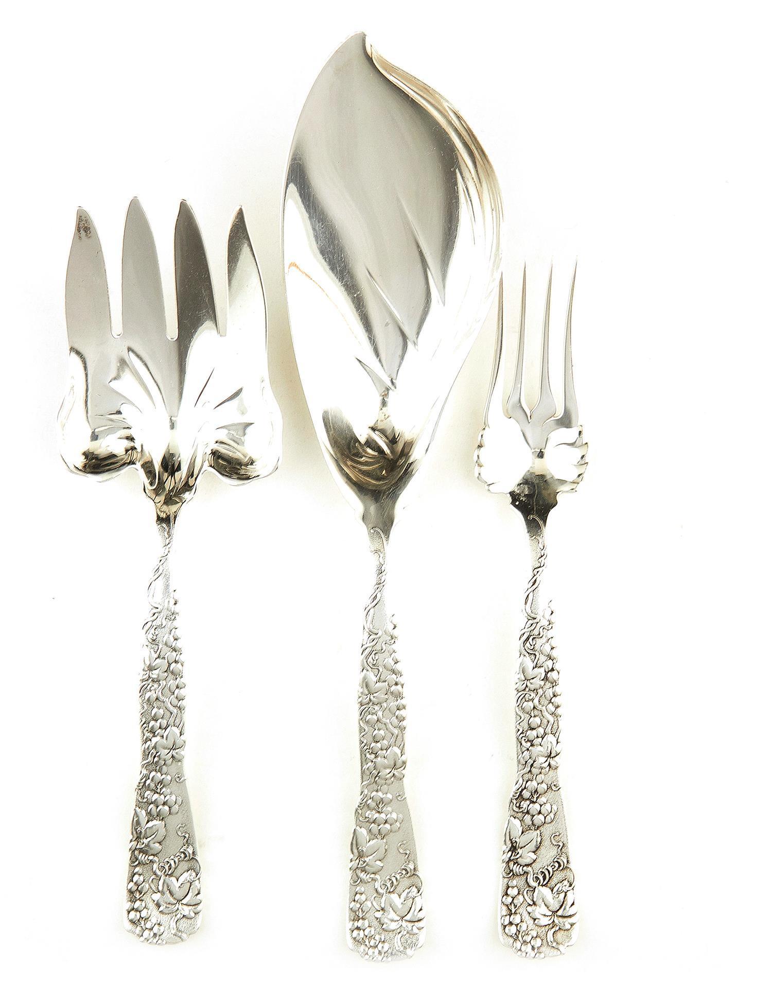 American silver flatware, Tiffany & Co (6pcs)
