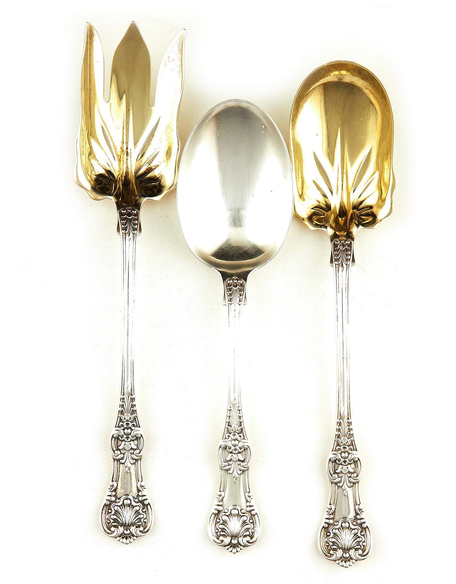 American silver flatware serving pieces, Tiffany & Co (3pcs)