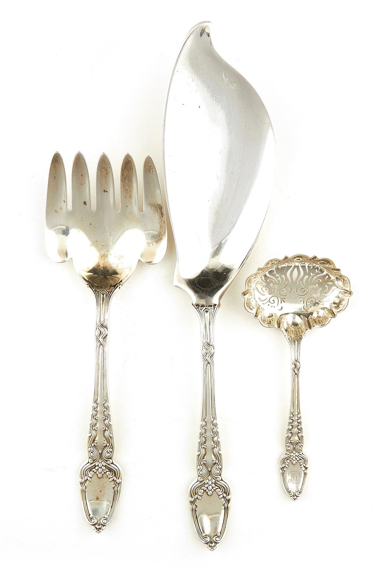 American silver flatware servers, Tiffany & Co (3pcs)