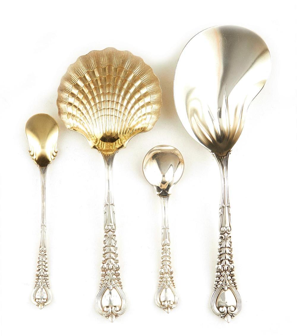 American silver flatware articles, Tiffany & Co (6pcs)