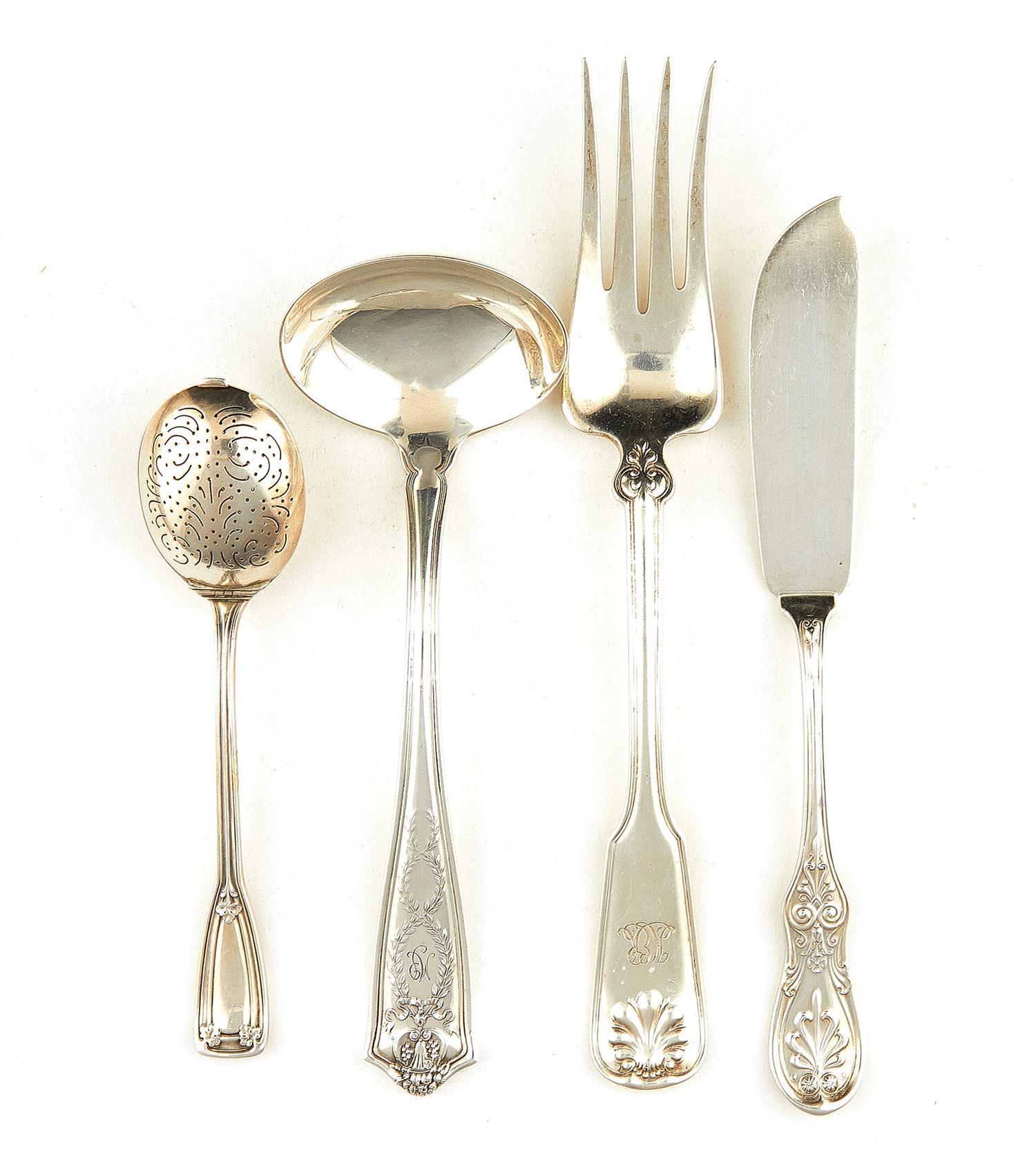 American silver flatware pieces, Tiffany & Co (6pcs)