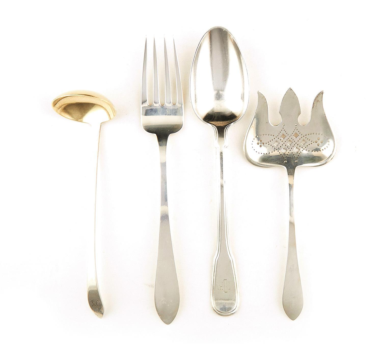 American silver flatware items, Tiffany & Co (11pcs)