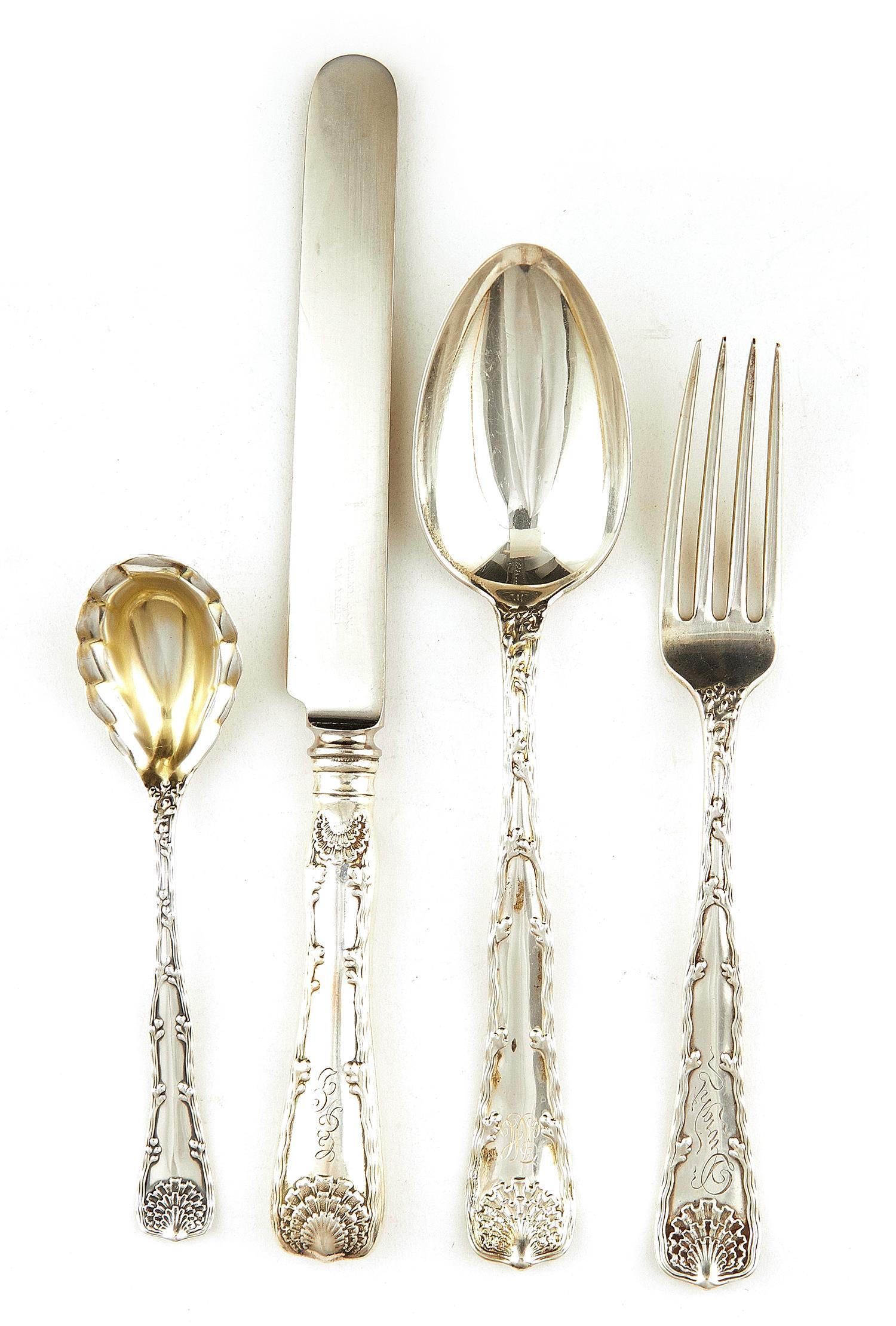 American silver flatware service, Tiffany & Co (68pcs)