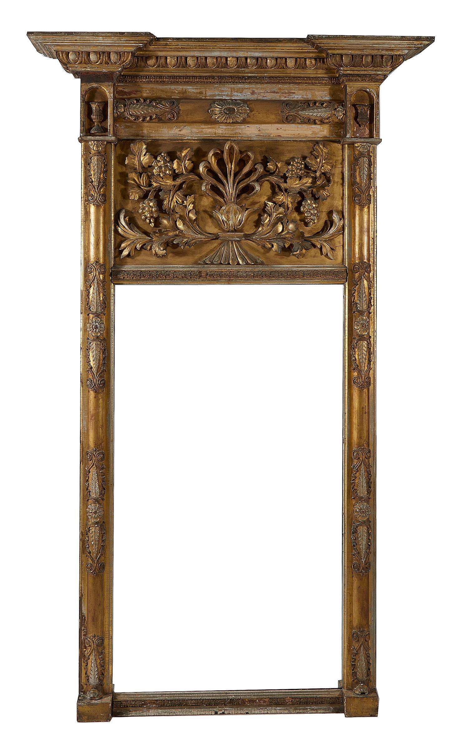 American Classical carved giltwood pier mirror