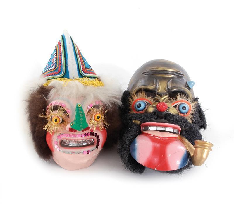 Bolivian Carnaval de Oruro masks (2pcs)