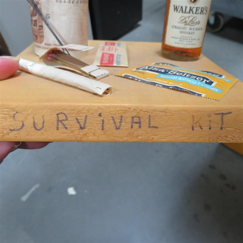 Folk art Survival Kit sculpture