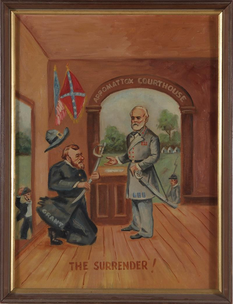 Civil War folk art painting