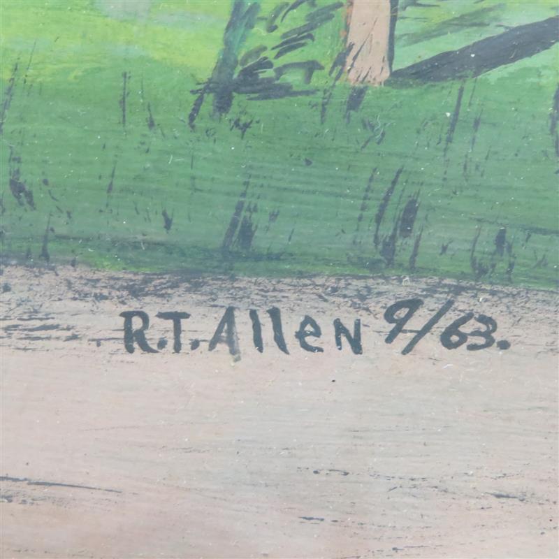 Southern folk art painting, Roy T. Allen