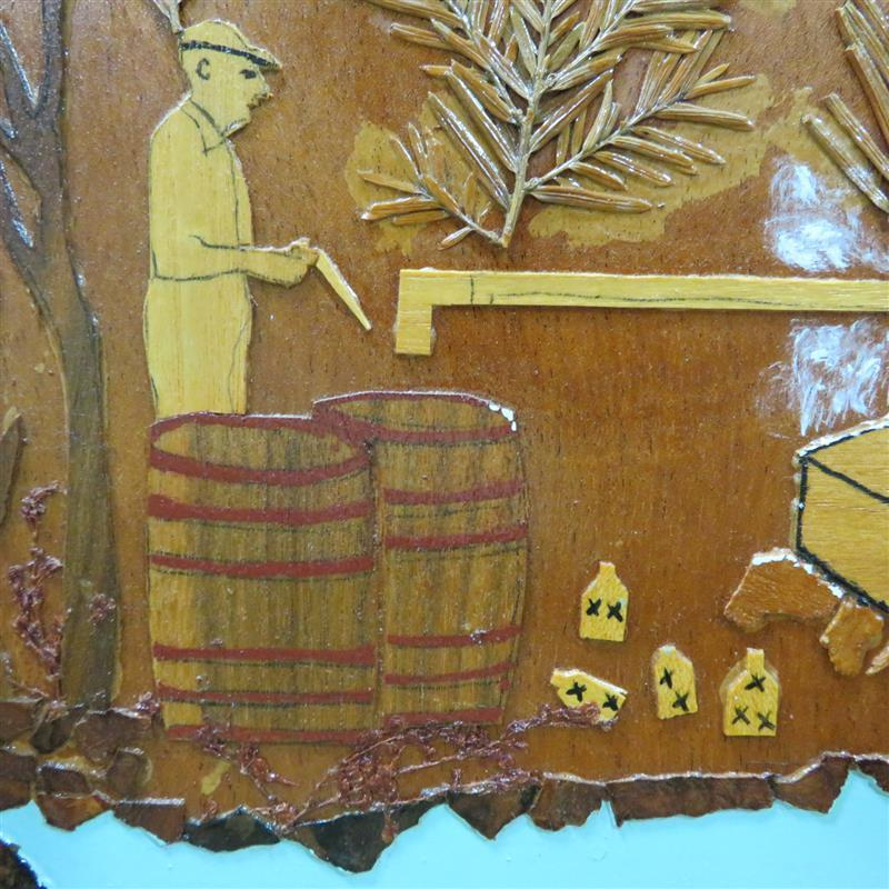 Southern folk art scene, signed IRBALL