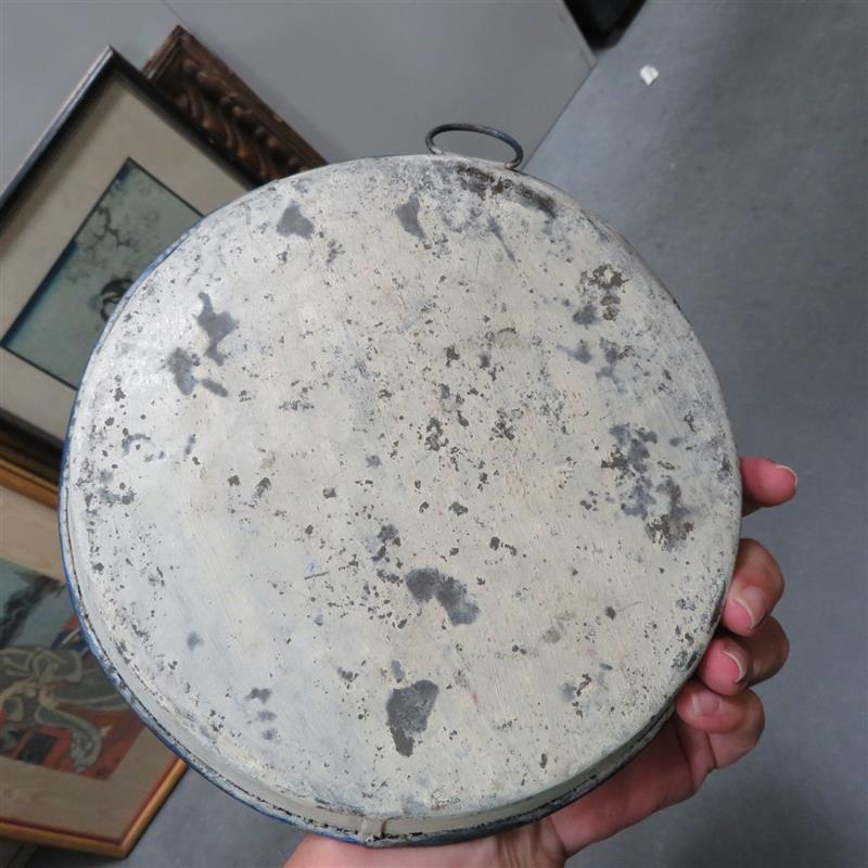 Painted Civil War canteen and plate (2pcs)