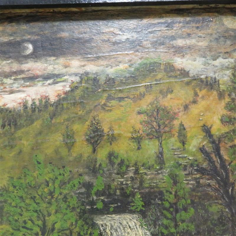 Southern folk painting, signed Dr. T.J. Townsend