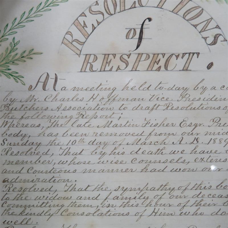 Southern penwork, Resolution of Respect
