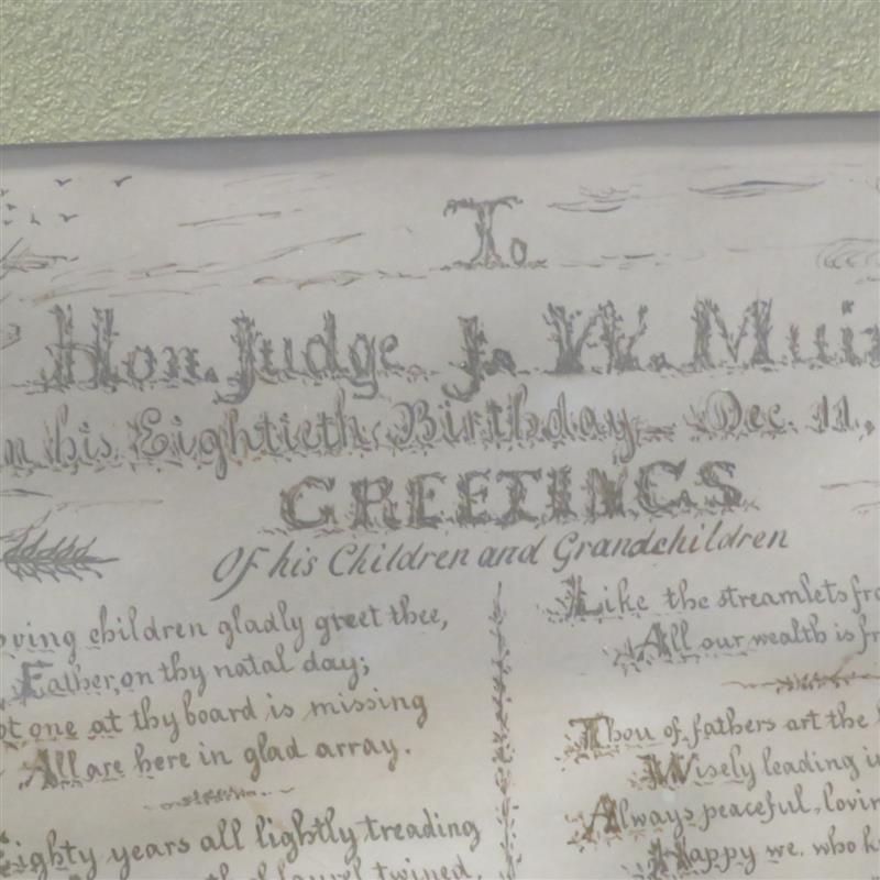 Penwork presentation to Hon. Judge J.W. Muir
