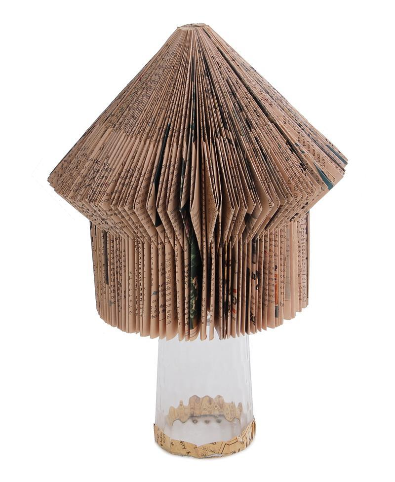 Folk art folded paper sculpture