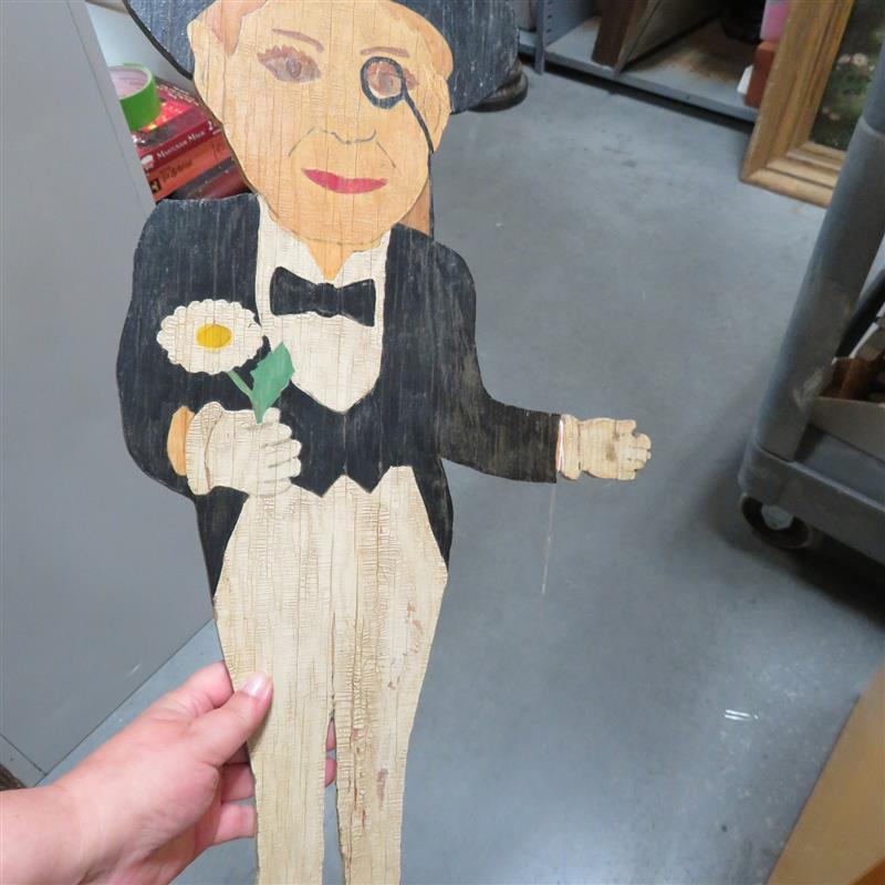 Folk art figure of Charlie McCarthy
