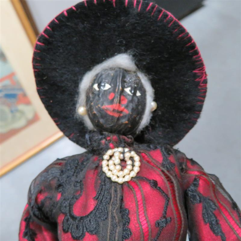 African-American nut-head dolls, Rev. and Mrs. Glaze (2pcs)