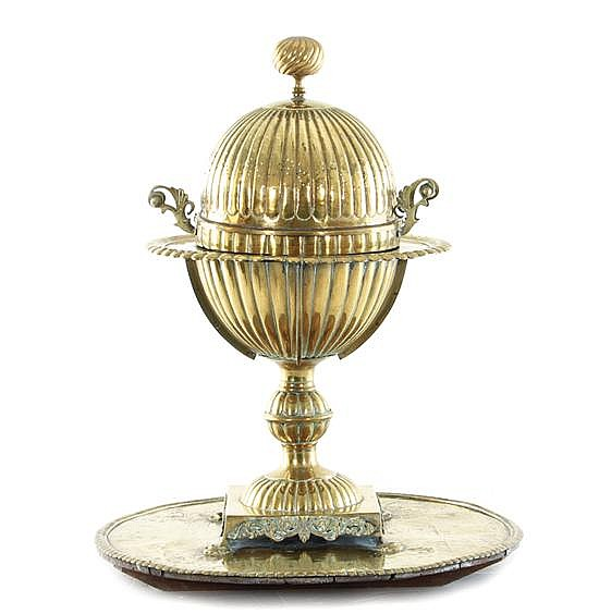 Turkish brass brazier (2pcs)