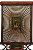 Image 2 for Edwardian polychrome-decorated and caned satinwood armchair