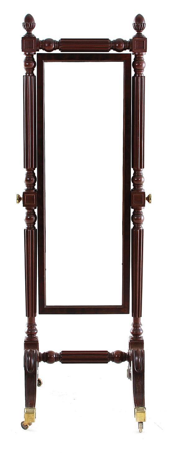 William IV style cheval mirror