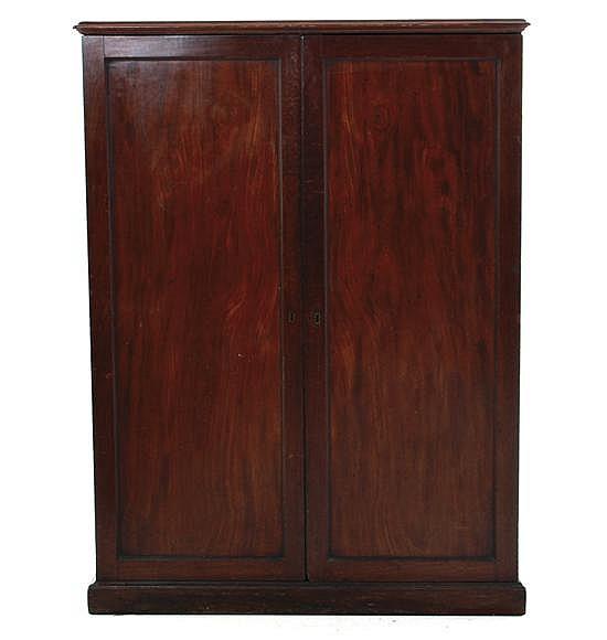 English mahogany document cabinet