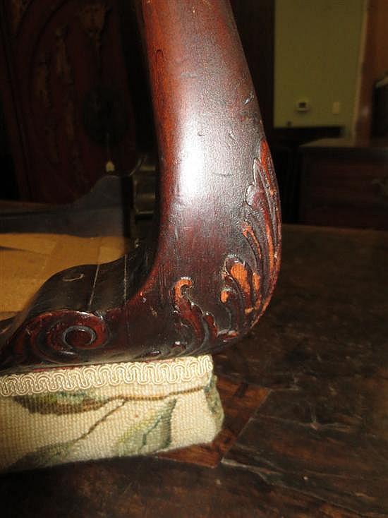 George III style carved mahogany stool