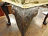 Image 11 for George III style carved mahogany stool