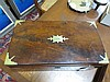 Image 3 for English brass-bound mahogany writing slope with artist's box (2pcs)