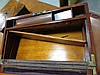 Image 6 for English brass-bound mahogany writing slope with artist's box (2pcs)