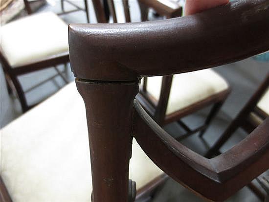 Pair Sheraton style mahogany shield back side chairs