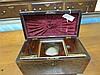 Image 2 for English brass-inlaid rosewood double tea caddy