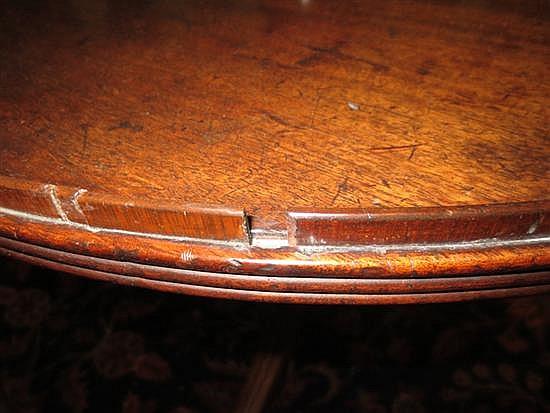 William IV mahogany two-tiered dumbwaiter