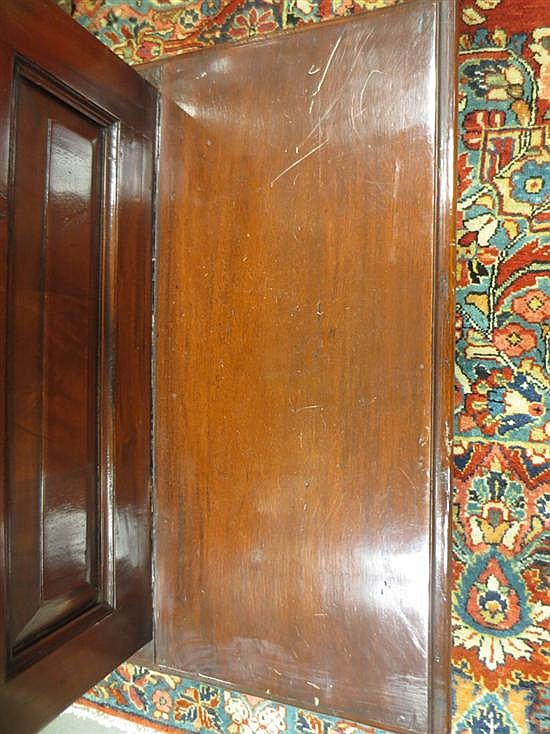 William IV style mahogany library steps