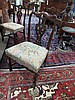 Image 2 for Georgian style carved mahogany dining chairs, set of six (6pcs)
