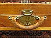 Image 3 for Vintage Louis Vuitton leather trunk on brass stand