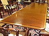 Image 3 for Sheraton style inlaid mahogany pedestal dining table