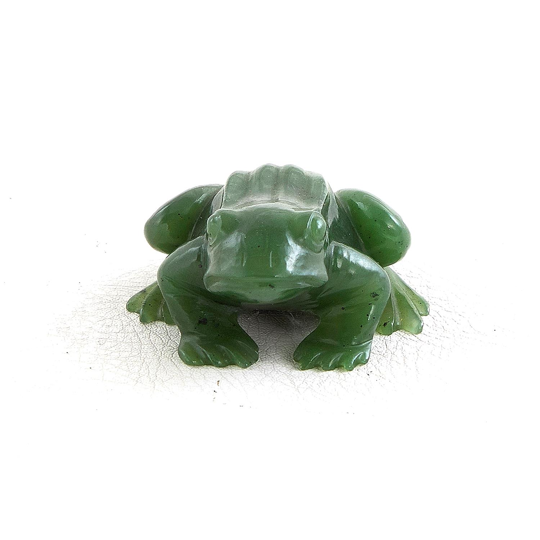 Georg O. Wild carved jade frog