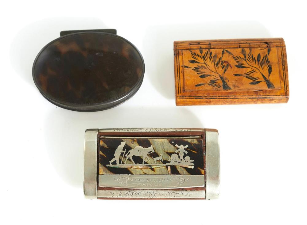 English and European snuff boxes (3pcs)