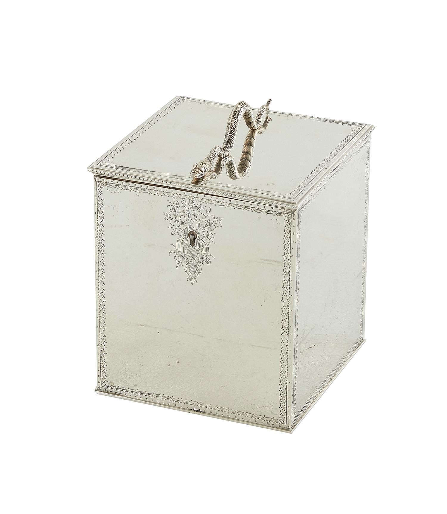 Fine Victorian sterling silver tea caddy, William Wrangham Williams