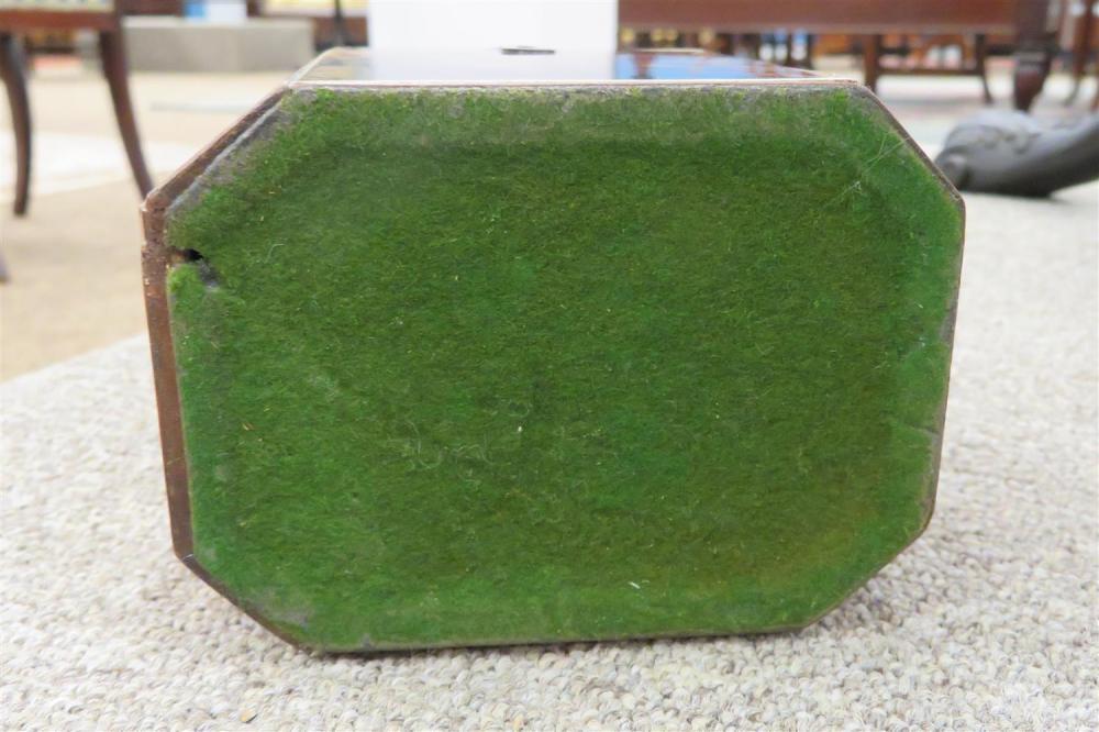 George III blond tortoiseshell tea caddy