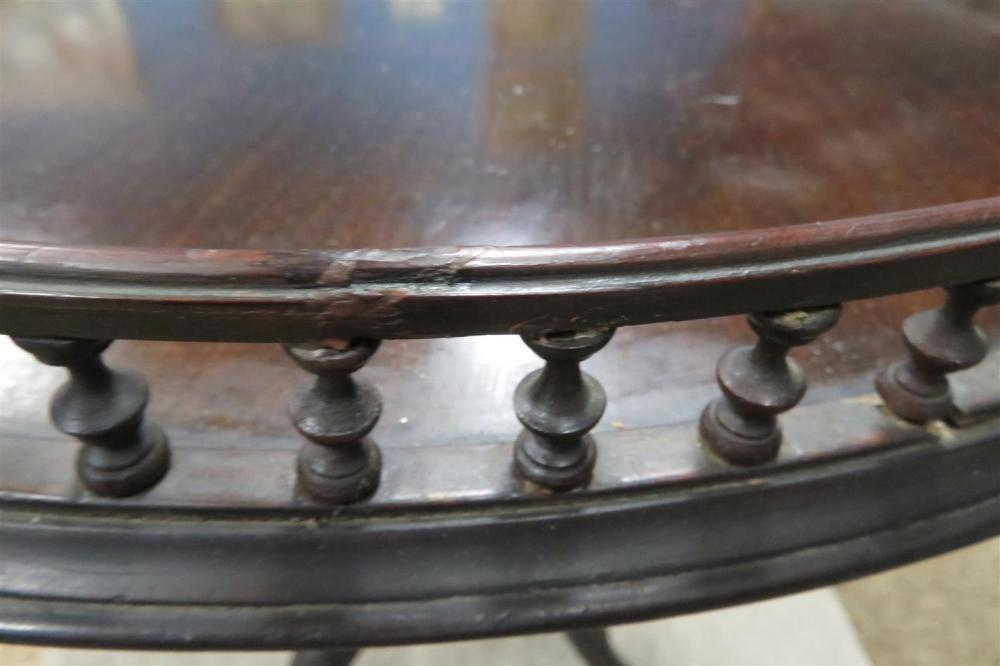 *Important George II carved mahogany tilt-top tripod table