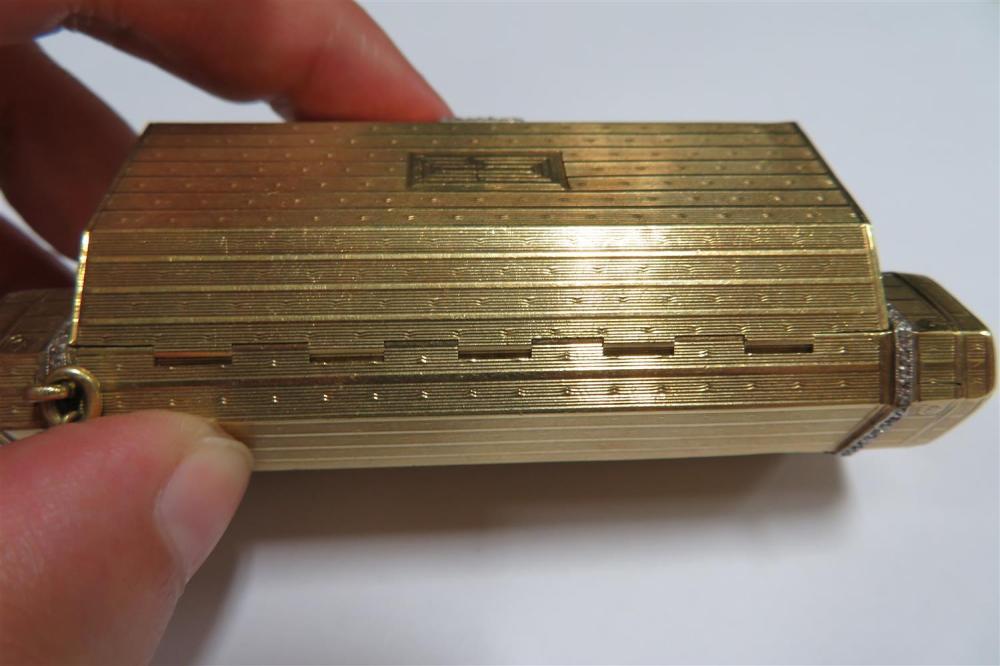 Art Deco diamond and gold vanity case