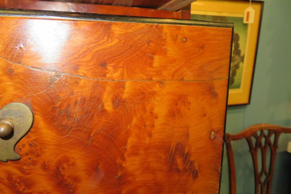 George III figured walnut chest on chest