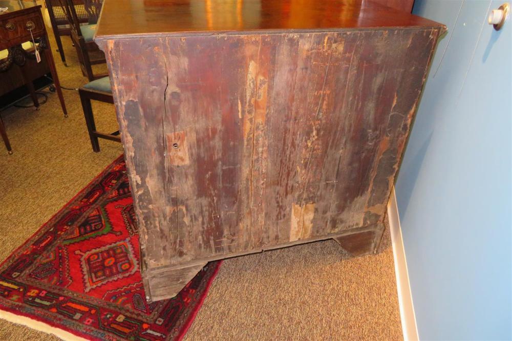 George III burl walnut chest of drawers