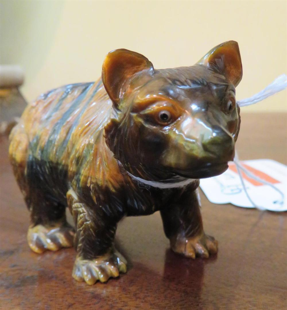Georg O. Wild carved tiger's-eye bear