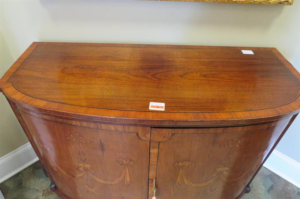 *Fine Georgian satinwood inlaid mahogany commode