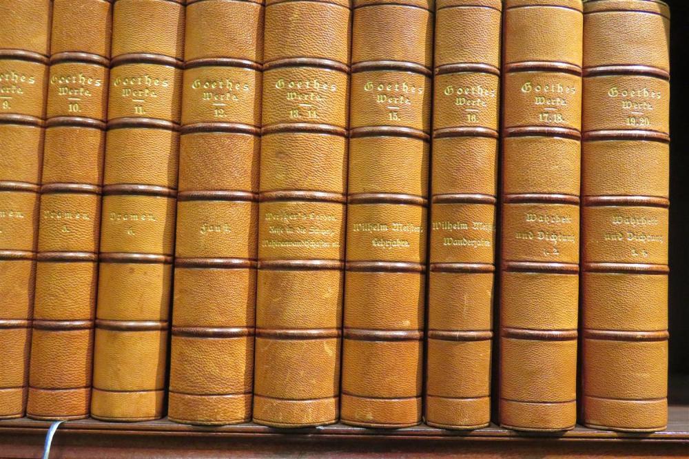 Fine bindings: Don Quixote and Goethe (33pcs)