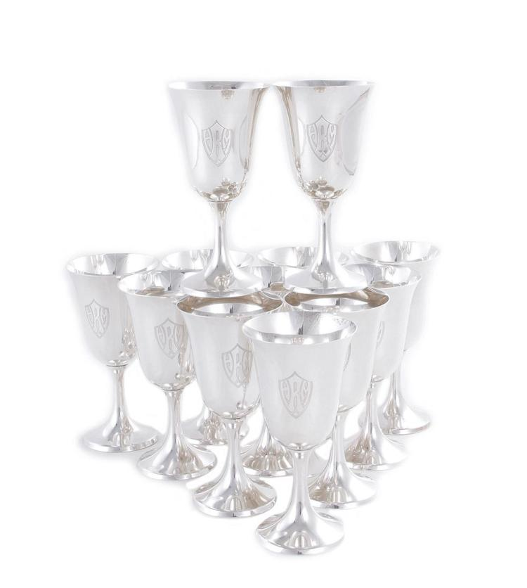Manchester sterling goblet set (12pcs)