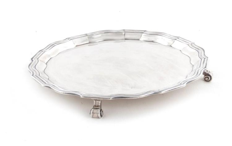 Tiffany & Co sterling footed salver