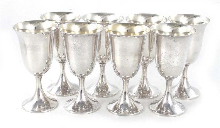 American sterling goblet set (8pcs)